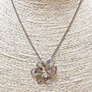 "SILPADA Flower Sterling Pendant 16.5"" Necklace"